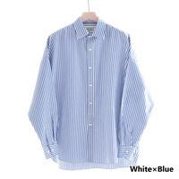 UNITUS Dolman Sleeve Shirt(White×Blue)