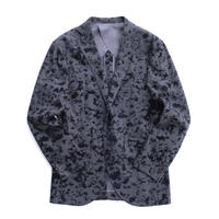 FEEL EASY ORIGINAL FLOWERED PATTERN JACKET(Gray×Black)