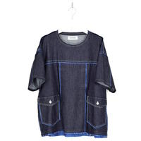 DISCOVERED CUT OFF DENIM PULLOVER(INDIGO)