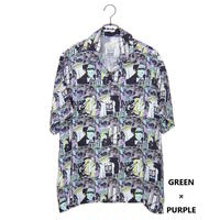 Iroquois WHITE RIOT グラフィックシャツ(GREEN×PURPLE)