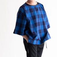 DISCOVERED Hicount Twill Block Check Pullover(BLUE)