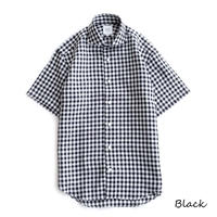 FEEL EASY ORIGINAL GINGHAM CHECK S/S SHIRT(Black)