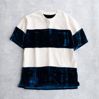 DISCOVERED SLICE CUTSEW(NAVY×O.WHITE)