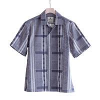 Snow Peak Printed Quick Dry Aloha Shirt(Ecru Navy)
