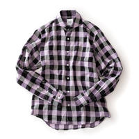 FEEL EASY ORIGINAL BLOCK CHECK TENCEL SHIRT(Purple)