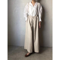 【WOMEN'S】THE FACTORY L/Cヘリンボーン肩紐付きギャザーパンツ(Natural/Brown/Navy)