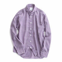 FEEL EASY ORIGINAL GINGHAM CHECK TENCEL SHIRT(Purple)