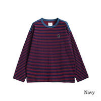 SHAREEF W FACE BORDER L/S PULL OVER(Navy)