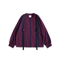 SHAREEF FRAGILE ROGO SEPARATE SLEEVE L/S-T(Navy)