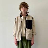 nuterm Reversible Boa Vest(Ivory)