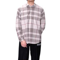 FACTOTUM オリジナルネルチェックワイドシャツ(BEIGE)
