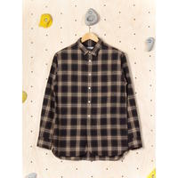 KESTIN HARE LIVERPOOL SHIRT(BROWN×SAND)