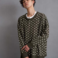 DISCOVERED CROSS KNIT(KHAKI)