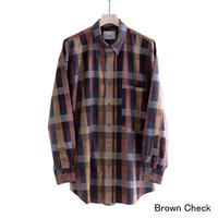 "nuterm ""The Earl"" B.D. Shirts(Brown Check)"