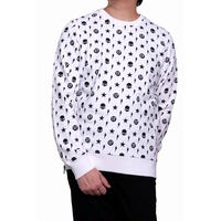 HYDROGEN ALLOVER CREWNECK SWEATSHIRT(WHITE)