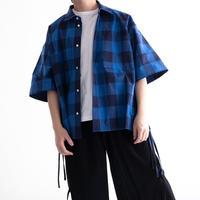 DISCOVERED Hicount Twill Block Check Shirt(BLUE)