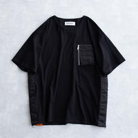 DISCOVERED MA-1 SIDE ZIP CUTSEWN(BLACK×BLACK)