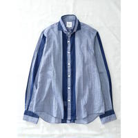 FEEL EASY ORIGINAL DOUBLE STRIPE LAWN SHIRT(Blue)
