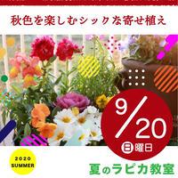 秋色を楽しむシックな寄せ植え【9/20日曜10:00~/2020夏】