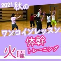 【ワンコインレッスン】11月9日(火)体幹トレーニング