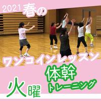 【ワンコインレッスン】4月6日(火)体幹トレーニング