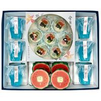 夏祭り詰合せ[大](ゼリー3種|ラムネゼリー6個・スイカゼリー4個・金魚すくい7個)