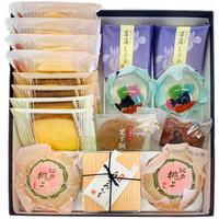 特選おやつボックス|人気のお菓子詰合せ|金魚すくい・江戸桃よ入り(9種17個)