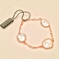 Gregio ブレスレット Iris three-stones Pearl White