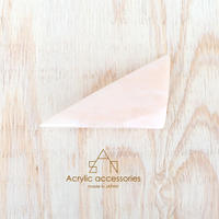 triangle barrette           Salmon Pink White Marble
