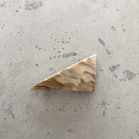 triangle barrette   brown series