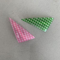 triangle barrette   Gingham check