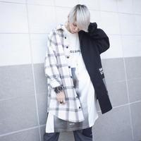 【AFYF】BILINGUAL LONG SHIRT[BLACK/WHITE×BLACK]