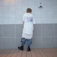 【AFYF】 COOL TECH (冷感接触素材) PRINT TRIANGLE TEE [BABY BLOCK-WHITE]