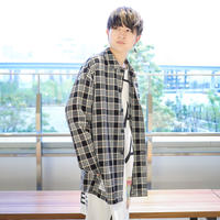 【CLASSIC ROV】 TROPICAL (清涼スーツ素材) SHIRT COAT [BLACK CHECK]