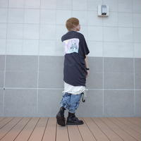 【AFYF】 COOL TECH (冷感接触素材) PRINT TRIANGLE TEE [BABY BLOCK-BLACK]