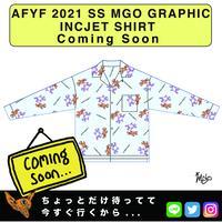 【AFYF】2021 SS GRAPHICINCJET SHIRT [DANCE BEAR FRIEND-SAX]