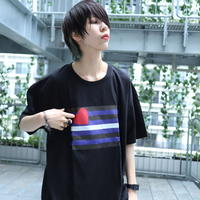 【AFYF ON GILDAN社】 🌈# U LOVES FRIEND T-SHIRTS FLAG H [BLACK]
