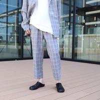 【CLASSIC ROV】 TROPICAL (清涼スーツ素材) CROPPED PANT [杢GREY CHECK]