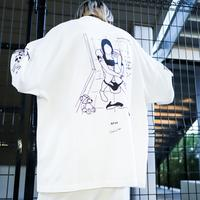 【AFYF】 OPENEND LS T SHIRT [RESTROOM WEED-WHITE]