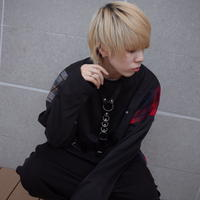 【AFYF】TRILINGUAL LONG SLEEVE TEE[BLACK]/7C19062413