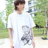 【AFYF ON GILDAN社】 RAINBOW BEAR T SHIRT [WHITE] / 4T20031801
