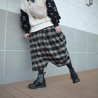 【CLASSIC ROV】 RAP PANT[CHECK-BLK×ORG]/7B20090500