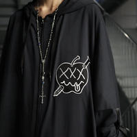 【AFYF】COOL TECH (冷感接触素材)  LONG ZIP PARKA QT SL [XXX-BLACK] / 4C20021502