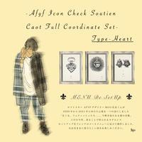 AFYF ICON CHECK SOUTIEN COAT FULL COORDINATE SET 【TYPE-HEART 】