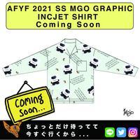 ネオ文芸派🎃短編小説     『THOM LONLEY BEAR』【AFYF】 2021 SS MGO GRAPHIC INCJET 開襟シャツ-MINT