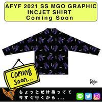 ネオ文芸派🎃プチカワ小説     『STUFFED  BEAR XOXO』【AFYF】 2021 SS MGO GRAPHIC INCJET 開襟シャツ-BLACK