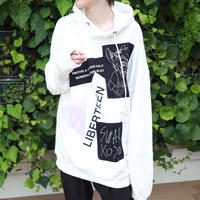 【AFYF】10 OZ SWEAT BIG PARKA [PATCH-WHITE]