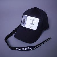 【AFYF】 LONG STRAP CAP [FET BEAR-BLACK] / XG19042401