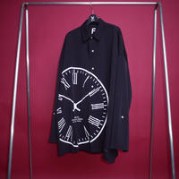 【AFYF】POLY CLOCK SHIRT[CLOCK-BLACK]