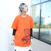 【AFYF ON GILDAN社】 RAINBOW BEAR T SHIRT [ORANGE]